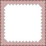 Modèle carré pour la broderie illustration stock