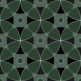 Modèle carré sans couture des nuances bleues marines d'ornements géométriques de résumé photographie stock