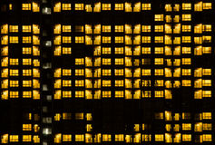 Modèle chaud de bâtiment de lumière de nuit Images libres de droits