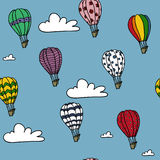 Modèle chaud de ballons à air Photographie stock libre de droits