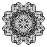 Modèle circulaire abstrait de vecteur des arabesques Photos stock