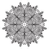 Modèle circulaire abstrait noir et blanc Photographie stock libre de droits