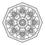 Modèle circulaire abstrait noir et blanc Photo libre de droits