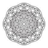 Modèle circulaire abstrait noir et blanc Images stock