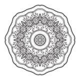 Modèle circulaire abstrait noir et blanc Image libre de droits