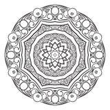 Modèle circulaire abstrait noir et blanc Image stock