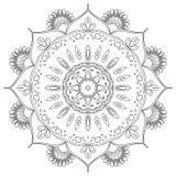 Modèle circulaire abstrait noir et blanc Photos libres de droits