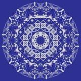 Modèle circulaire dans le style de mandala positionnement Photos stock
