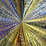 Modèle circulaire dans le style grunge modèle rayé Hippies, boho, rustique Saleté, gouttelette, mandala coloré tricoté Photo stock