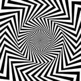 Modèle circulaire de radial, rayonnant des lignes Starburs monochromes illustration stock