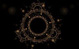 Modèle circulaire sur un fond noir Image stock