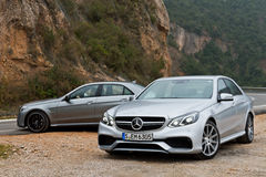 Modèle classe de la e de Mercedes-Benz AMG 2013 photo stock