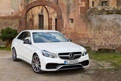 Modèle classe de la e de Mercedes-Benz AMG 2013 photographie stock libre de droits
