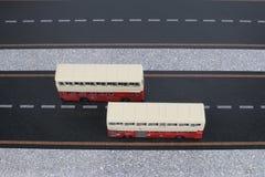 Modèle classique d'autobus de Londres Photographie stock