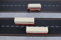 Modèle classique d'autobus de Londres Photo libre de droits