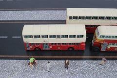 Modèle classique d'autobus de Londres Image stock