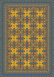 Modèle classique pompeux pour le tapis Photographie stock