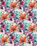 Modèle coloré abstrait d'impression de bloc image stock