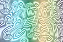 Modèle coloré abstrait incurvé rayé illustration stock