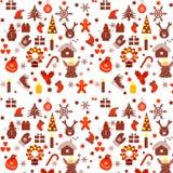 Modèle coloré avec des éléments de Noël Photographie stock libre de droits