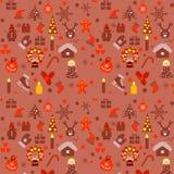 Modèle coloré avec des éléments de Noël Photos stock