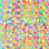 Modèle coloré avec les triangles chaotiques Photo stock