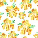 Modèle coloré d'iris décoratif floral sans couture de vecteur illustration libre de droits