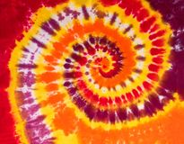 Modèle coloré de conception de spirale de remous de colorant de lien photos stock