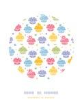 Modèle coloré de décor de cercle de partie de petit gâteau Photographie stock libre de droits