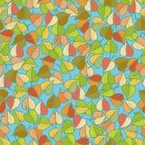 Modèle coloré de feuilles d'automne Image libre de droits