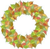 Modèle coloré de feuilles d'automne Photos stock