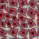 Modèle coloré de fleurs géométriques abstraites de fond illustration de vecteur
