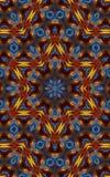Modèle coloré de kaléidoscope avec David étoile de s au milieu Image libre de droits