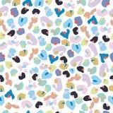 Modèle coloré de léopard de bébé Papier peint coloré sans couture d'enfants illustration libre de droits