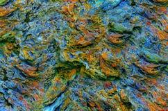 Modèle coloré de roche superficiel par les agents par résumé photos libres de droits