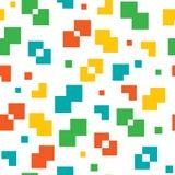 Modèle coloré de vecteur sans couture de pixel Images libres de droits