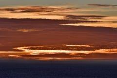 Modèle coloré et nuage d'or Photographie stock libre de droits