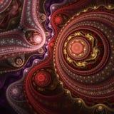 Modèle coloré foncé de fractale, illustration numérique Image libre de droits