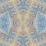 Modèle coloré grunge sans couture mou Collage avec les lignes en pastel fabriquées à la main Fond de batik, contexte Style de Boh illustration stock