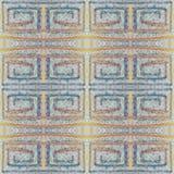Modèle coloré grunge sans couture mou Collage avec les lignes en pastel fabriquées à la main Fond de batik, contexte Style de Boh illustration de vecteur