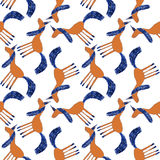 Modèle coloré mignon sans couture de licorne Image libre de droits