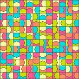 Modèle coloré polygonal de la géométrie Photos stock