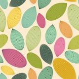 Modèle coloré sans couture avec des feuilles Photos stock