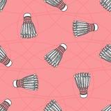 Modèle coloré sans couture de boule de badminton Photographie stock libre de droits