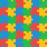 Modèle coloré sans couture de puzzle Photo stock