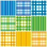 Modèle coloré sans couture de tissu Images libres de droits