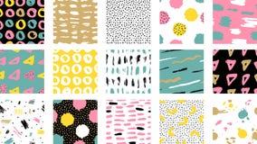 Modèle coloré sans couture de vecteur à la mode avec des courses de brosse Vec illustration libre de droits