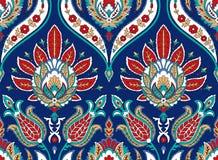 Modèle coloré sans couture de vecteur dans le style turc Fond décoratif de cru Ornement tiré par la main L'Islam, arabe Photographie stock