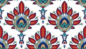 Modèle coloré sans couture de vecteur dans le style turc Fond décoratif de cru Ornement tiré par la main L'Islam, arabe Image stock