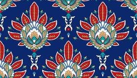 Modèle coloré sans couture de vecteur dans le style turc Fond décoratif de cru Ornement tiré par la main L'Islam, arabe Images libres de droits